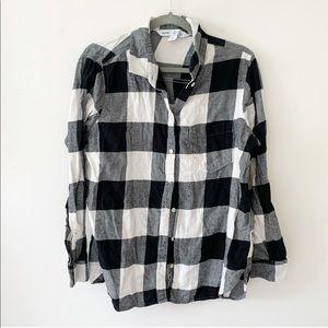 Old Navy Plaid Flannel No-Peek Classic Shirt